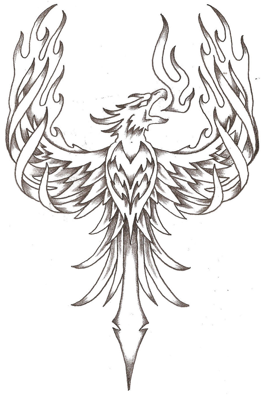 900x1358 Phoenix Tattoos Phoenix Firebird By Thelob