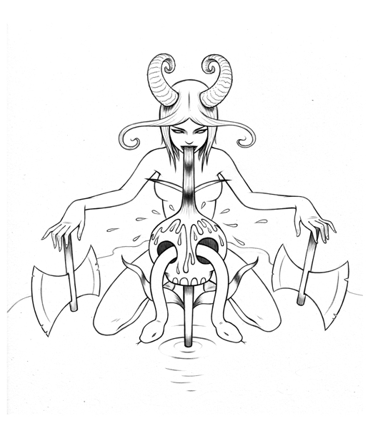 529x600 Tara Mcpherson Art Drawings Drawings High On Fire Drawing