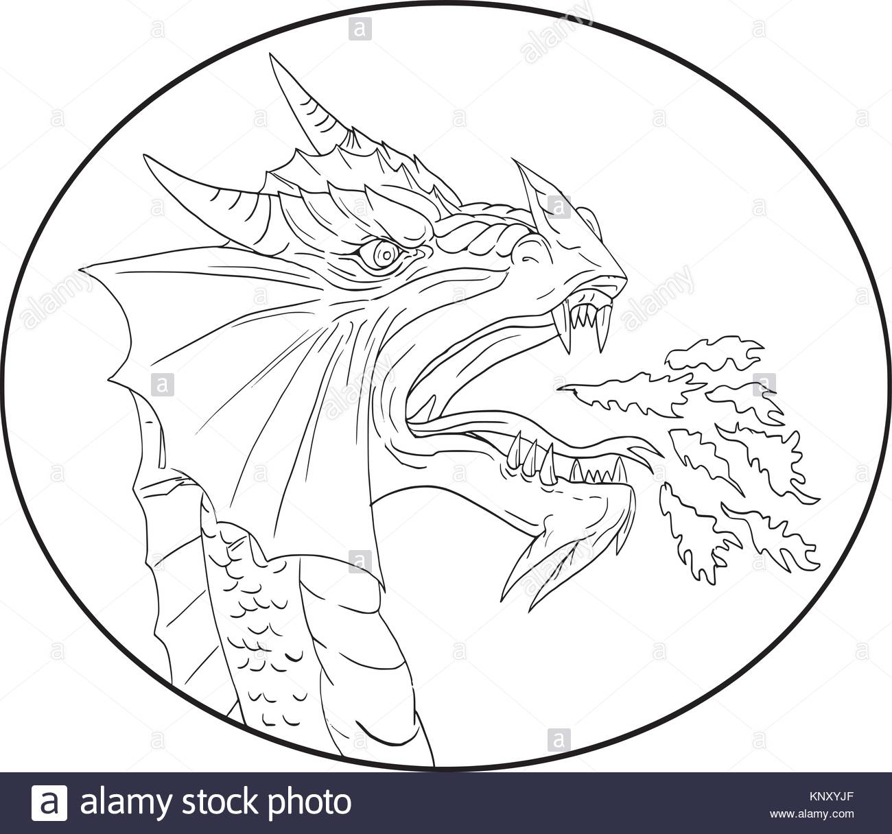 1300x1216 Drawing Sketch Style Illustration Of A Dragon Breathing Fire