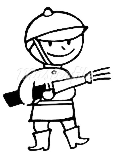 393x550 Cartoon Fireman Putting Out Fire Clipart Panda