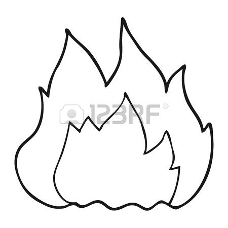 450x450 Freehand Drawn Cartoon Old Computer On Fire Royalty Free Cliparts