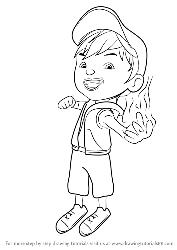 567x800 Learn How To Draw Boboiboy Fire From Boboiboy (Boboiboy) Step By