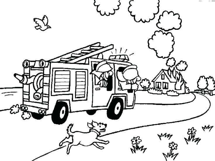 736x552 Fire Station Coloring Page Here Are Firetruck Coloring Pages