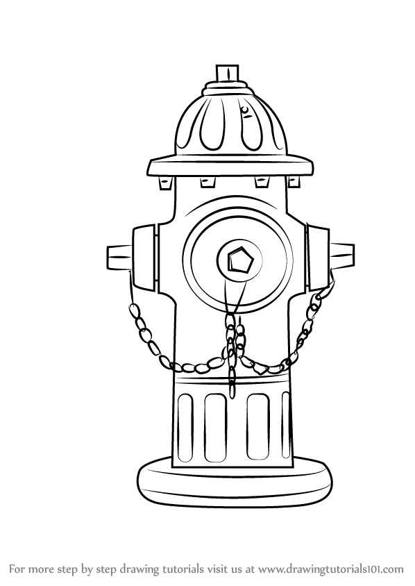 598x844 Learn How To Draw Fire Hydrant Everyday Objects Step By