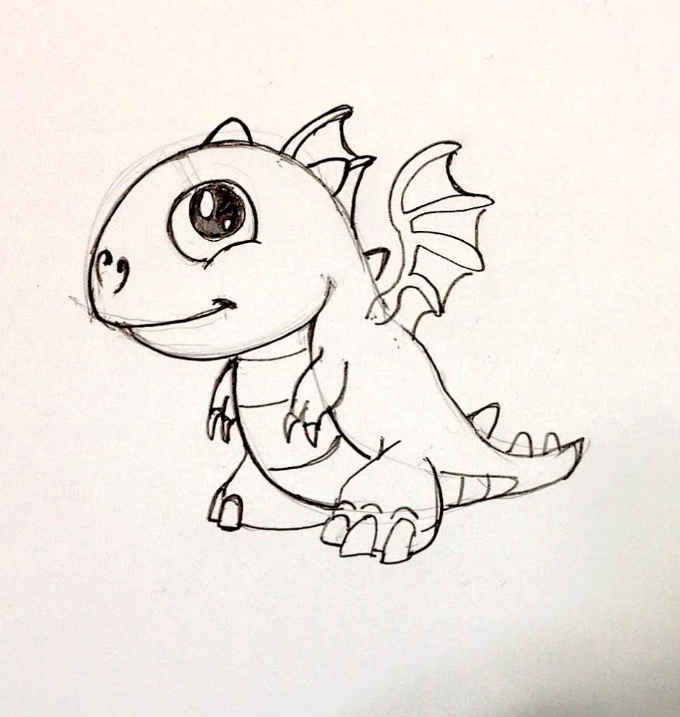 972x1024 Easy To Draw Dragon How To Draw A Dragon Step Step And Easy