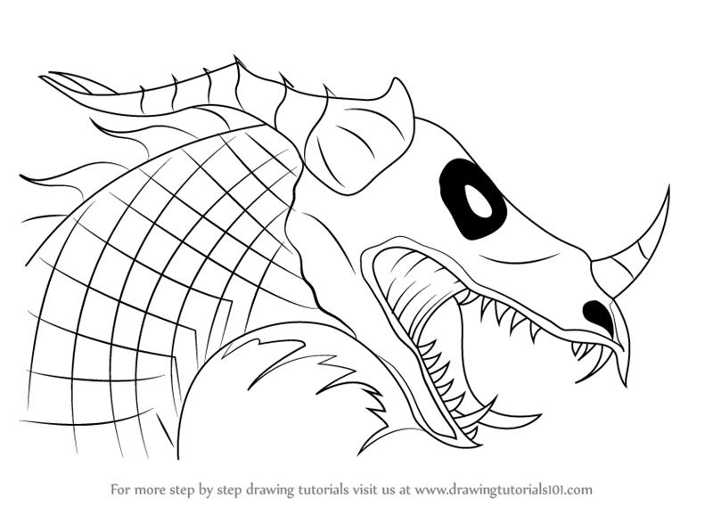 800x568 How Draw A Dragon Head How