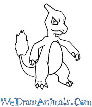 300x350 How To Draw Charmeleon Pokemon