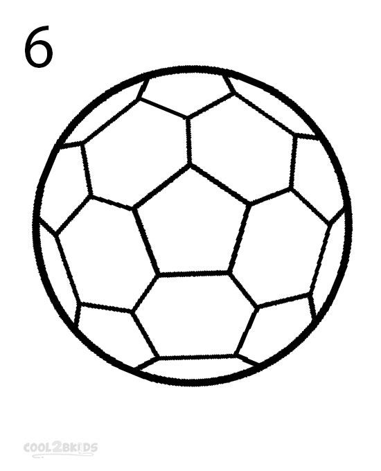 550x680 How To Draw A Soccer Ball (Step By Step Pictures) Cool2bkids