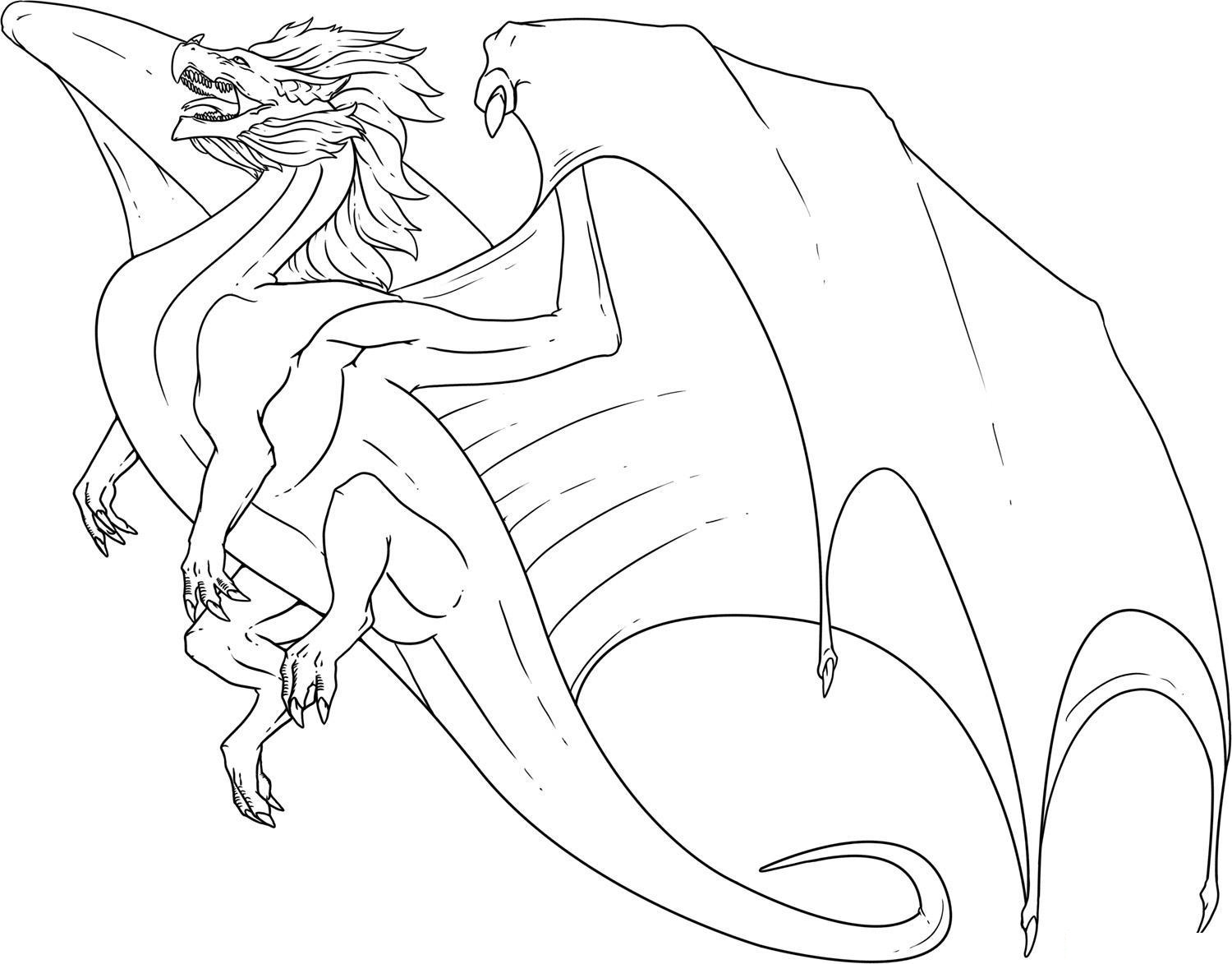 1500x1173 Realistic Fire Breathing Dragon Coloring Pages Printable In Snazzy