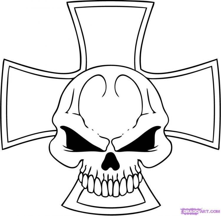 750x730 Coloring How To Draw A Cool Skull On Fire Also How To Draw Cool