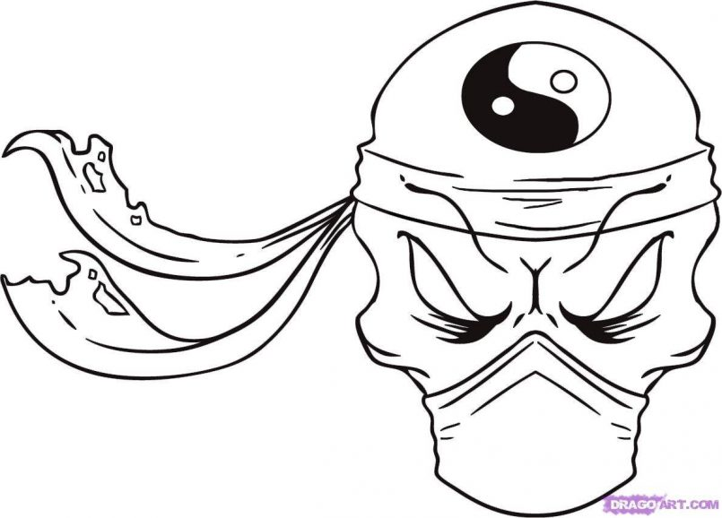 805x578 Coloring How Draw A Easy But Cool Skullgether With How