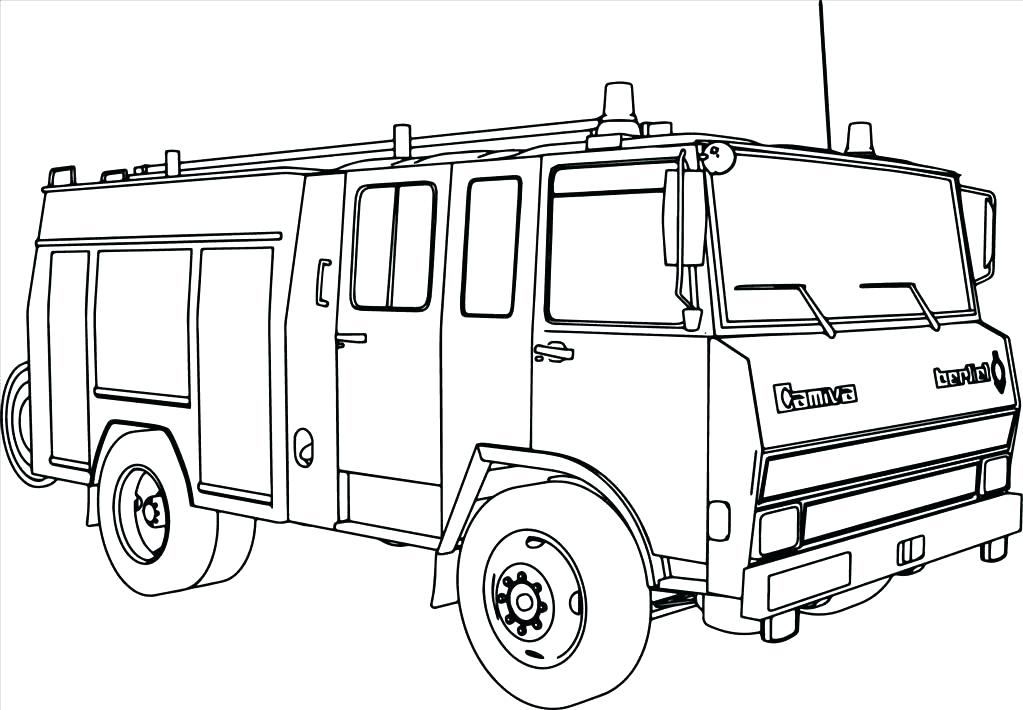 1023x710 Fire Truck Coloring Book And Fire Station Coloring Page Fire Truck
