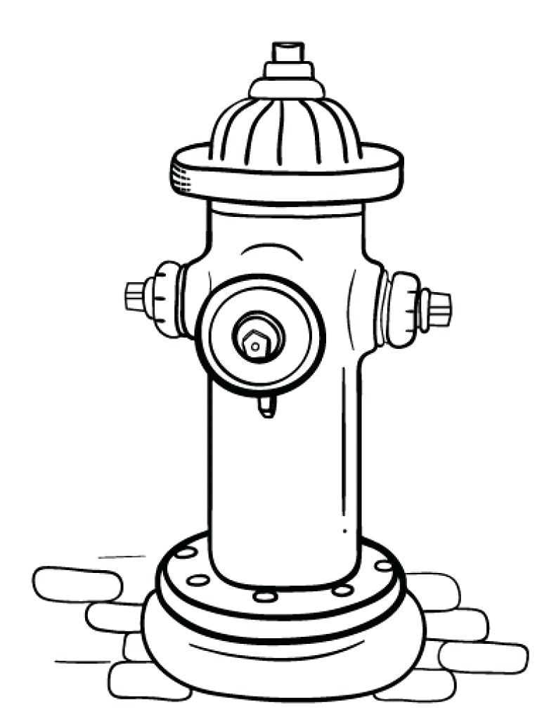 coloring pages fire hydrants - photo#3