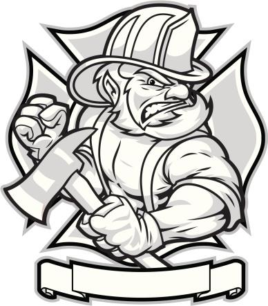 388x442 Firefighter Drawing Tattoos Firefighter