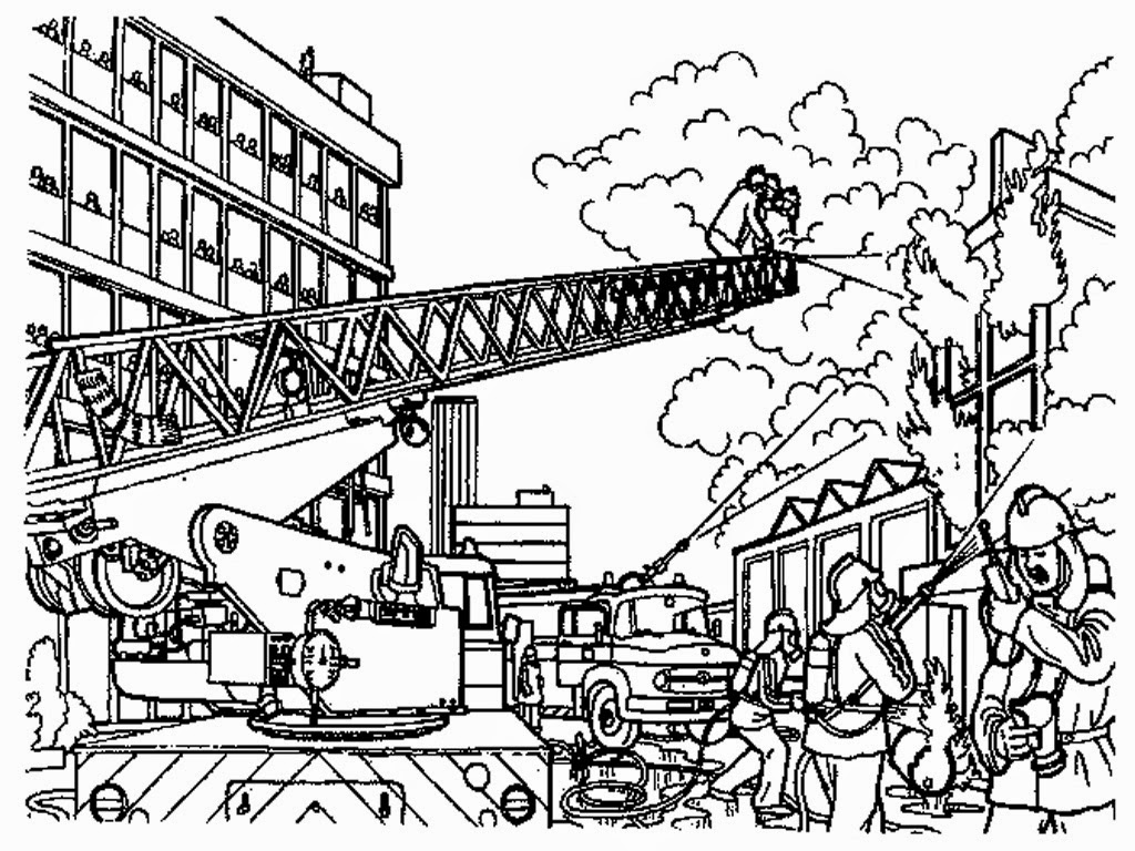 fire fighter coloring pages - fire fighter drawing at free for