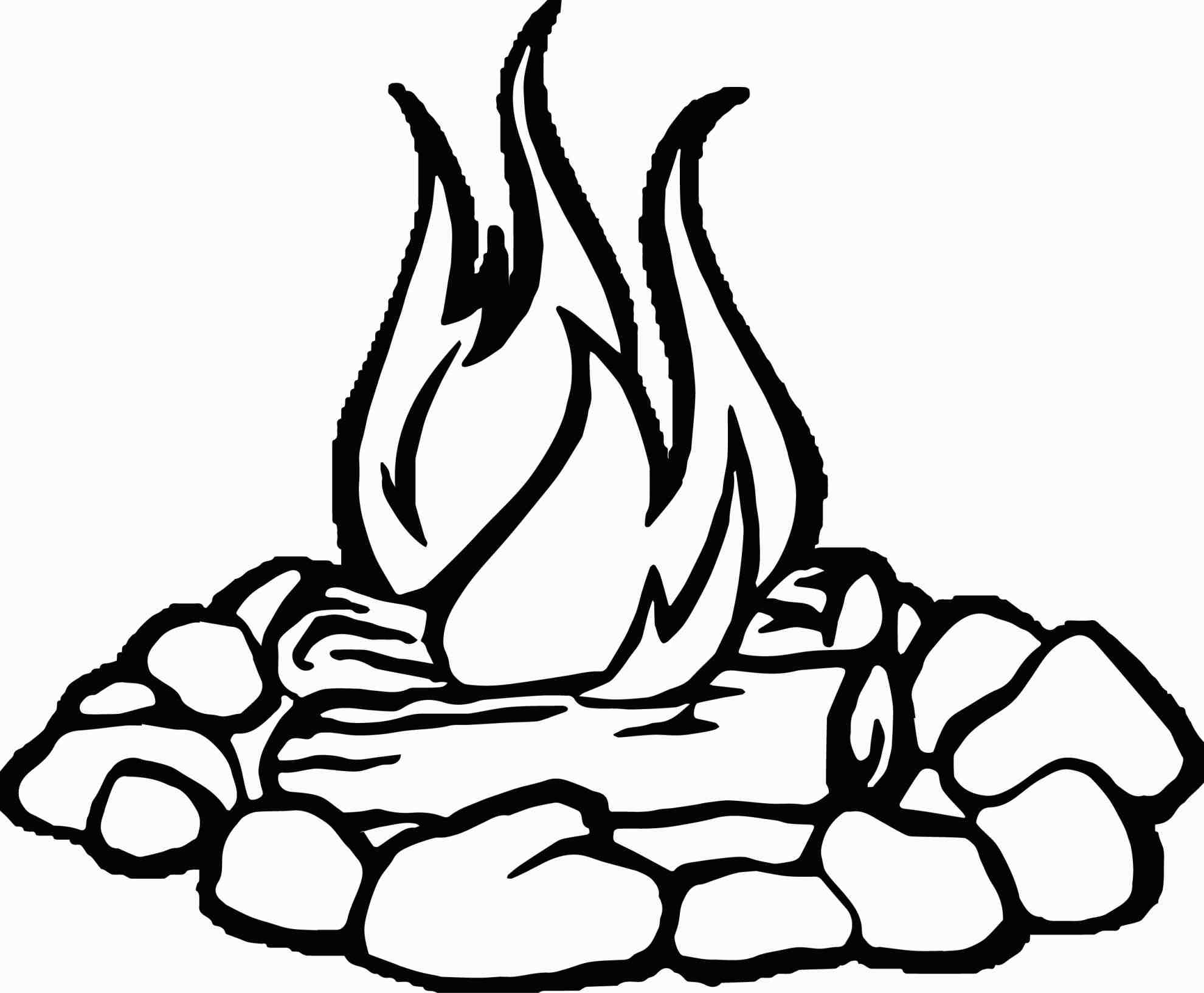 fire flames coloring pages | Fire Flames Drawing at GetDrawings.com | Free for personal ...