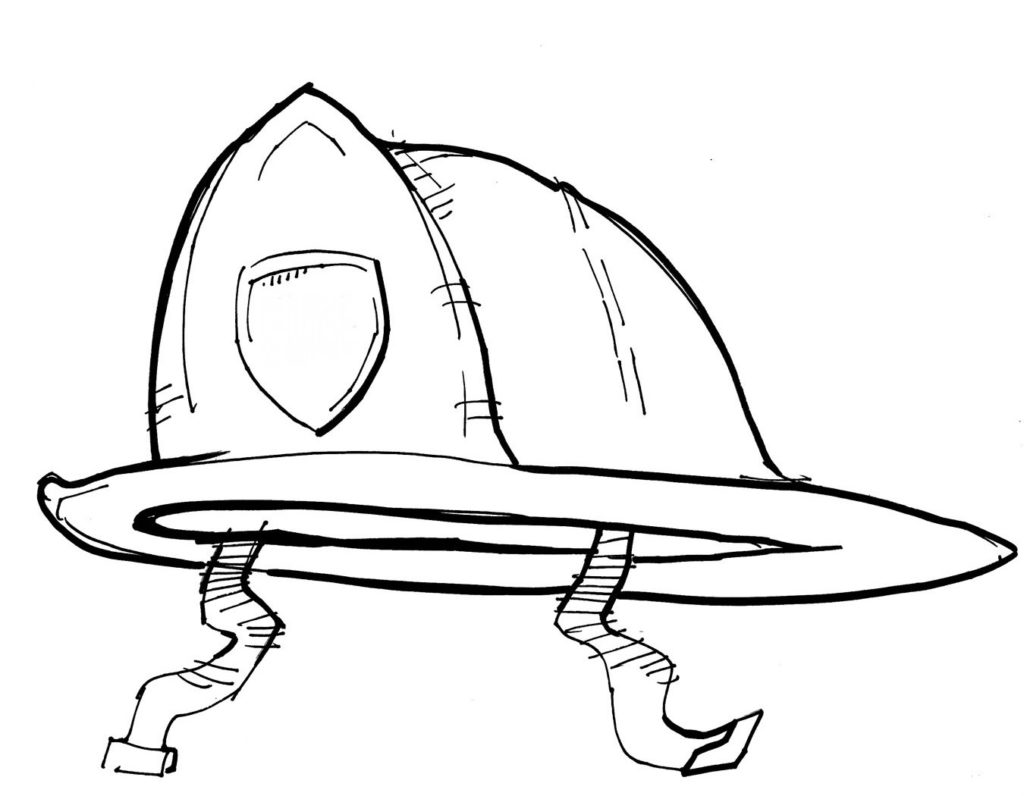 Fire helmet drawing at getdrawings free for personal use fire 1024x796 fireman hat drawing kids coloring maxwellsz