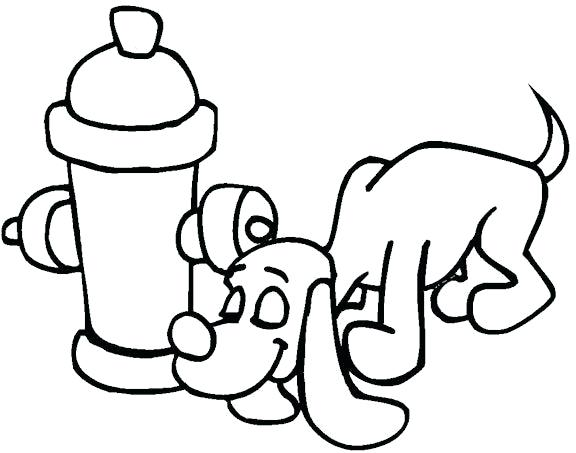 576x453 Fire Hydrant Coloring Page Fire Extinguisher Coloring Page Fire
