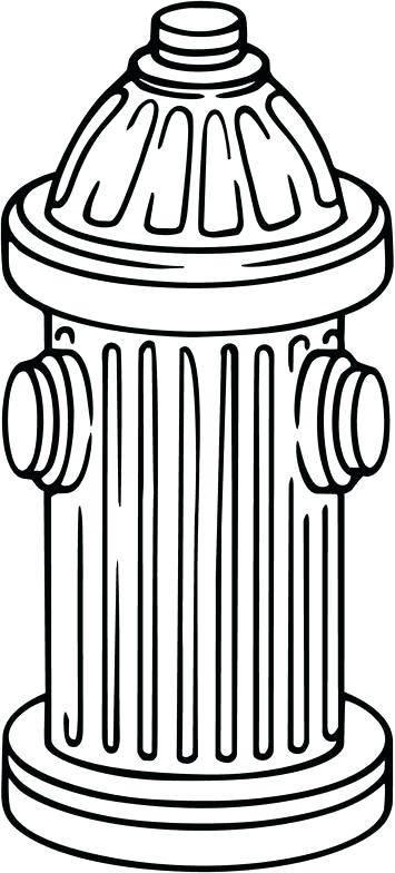 355x784 Fire Hydrant Coloring Page Fire Safety Coloring Pages With Fire
