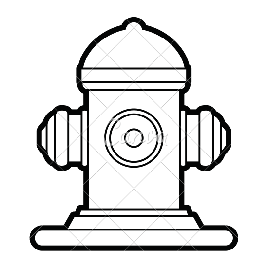550x550 Fire Hydrant Vector