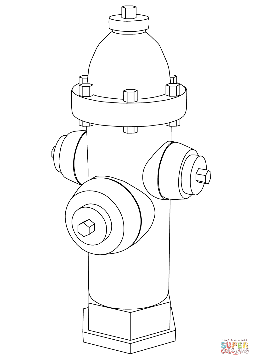 1061x1500 Fire Hydrant Coloring Page Free Printable Pages