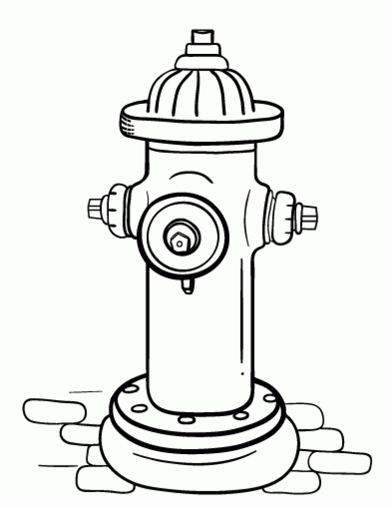 791x1024 Printable Fire Hydrant Coloring Page Free Book Picture