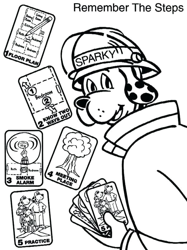 600x801 Fire Hydrant Coloring Page Fire Dog Sparky The Fire Safety Dog
