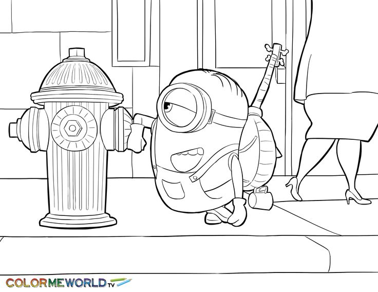 736x568 7 Best Minions Coloring Pages Images On Minion Stuff