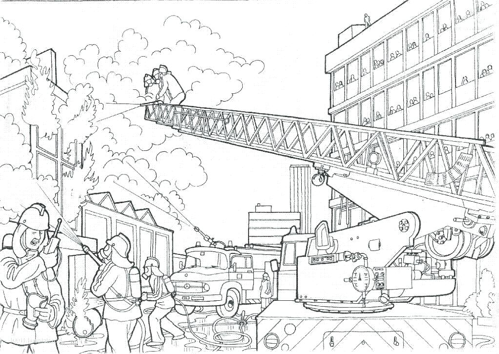 1022x725 Fire Station Coloring Page Fire Coloring Sheet Fire Station
