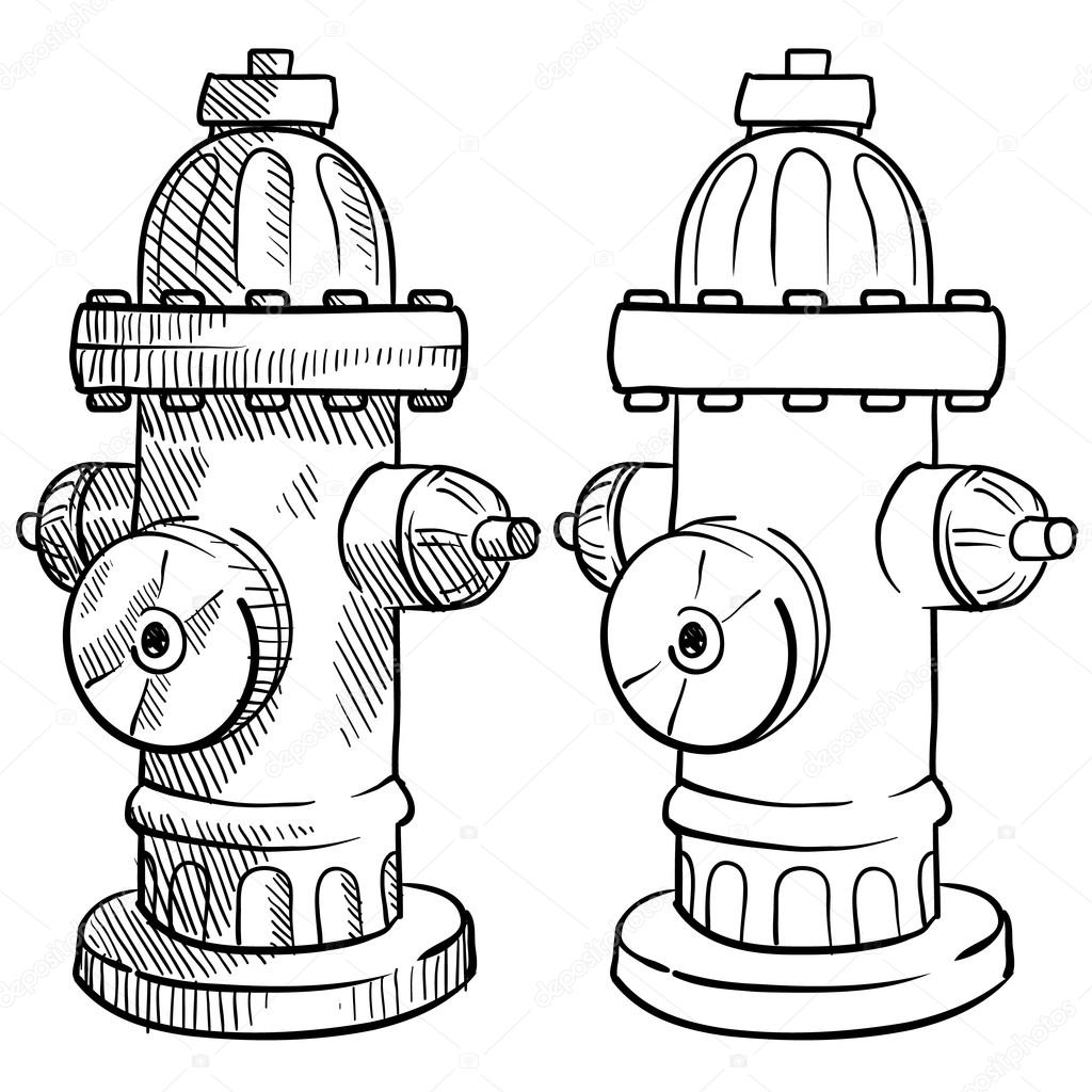 1024x1024 Fire Hydrant Sketch Stock Vector Lhfgraphics