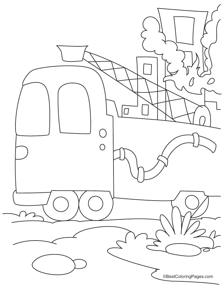 738x954 Fire Hydrant Coloring Page