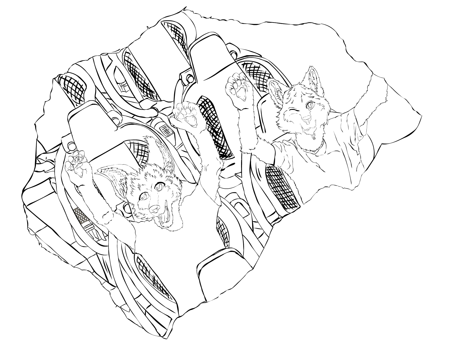 Fire Line Drawing