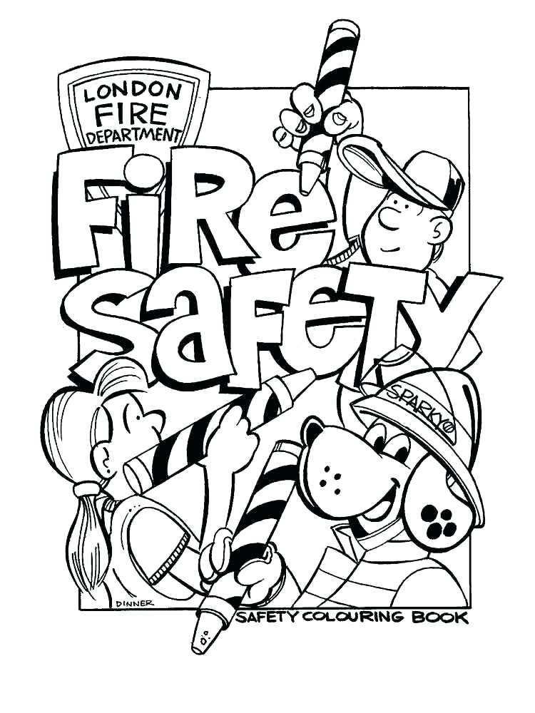 750x1000 Fire Safety Coloring Sheets Educational