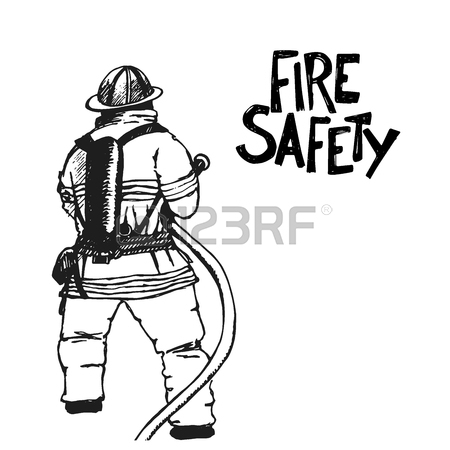 450x450 Hand Drawn Fire Extinguisher. Vector Illustration. Great