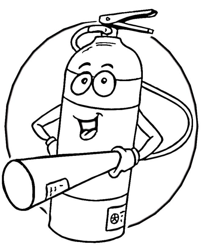 680x800 Fire Safety Clip Art Black And White