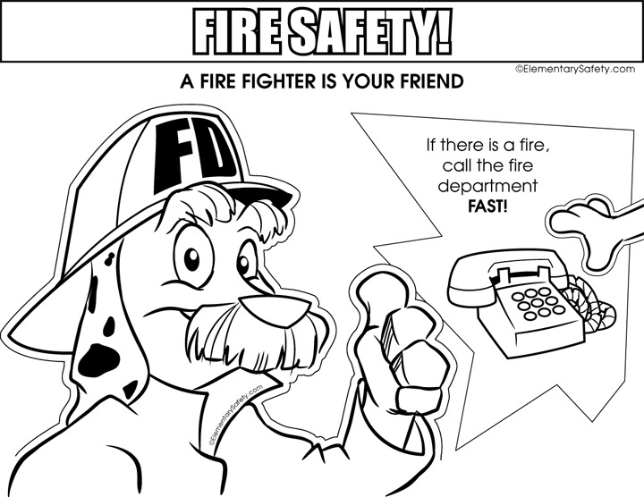 720x556 Coloring Fire Safety