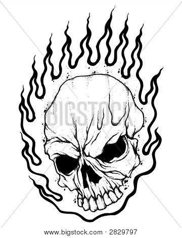 360x470 Flaming Skull Image Amp Photo Bigstock