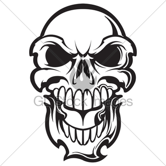 325x325 Flaming Skull Gl Stock Images