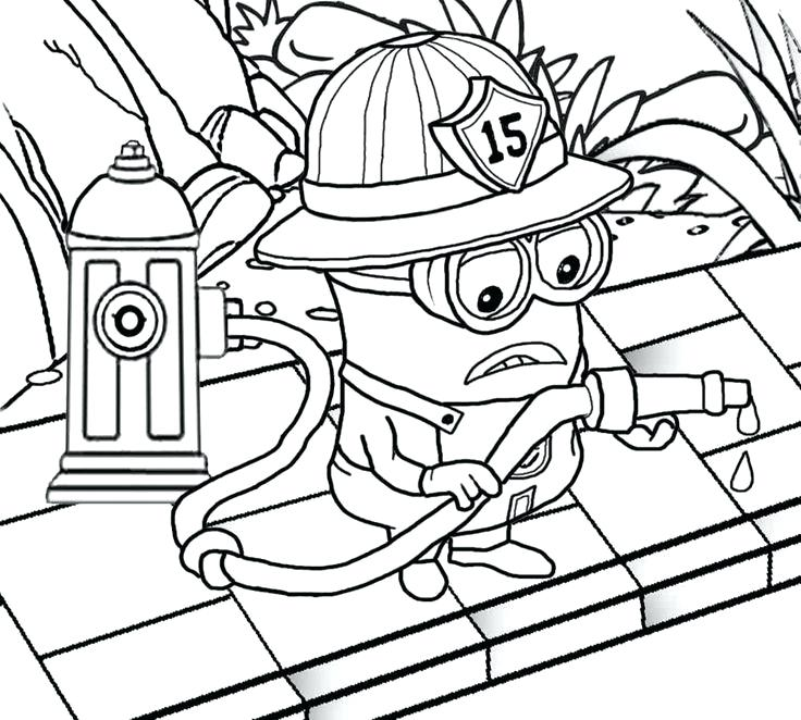 736x662 Firefighter Coloring Book 11 And Firefighter Coloring Pages
