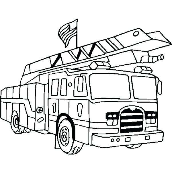 600x600 Free Fire Truck Coloring Pages Printable Free Fire Truck Coloring