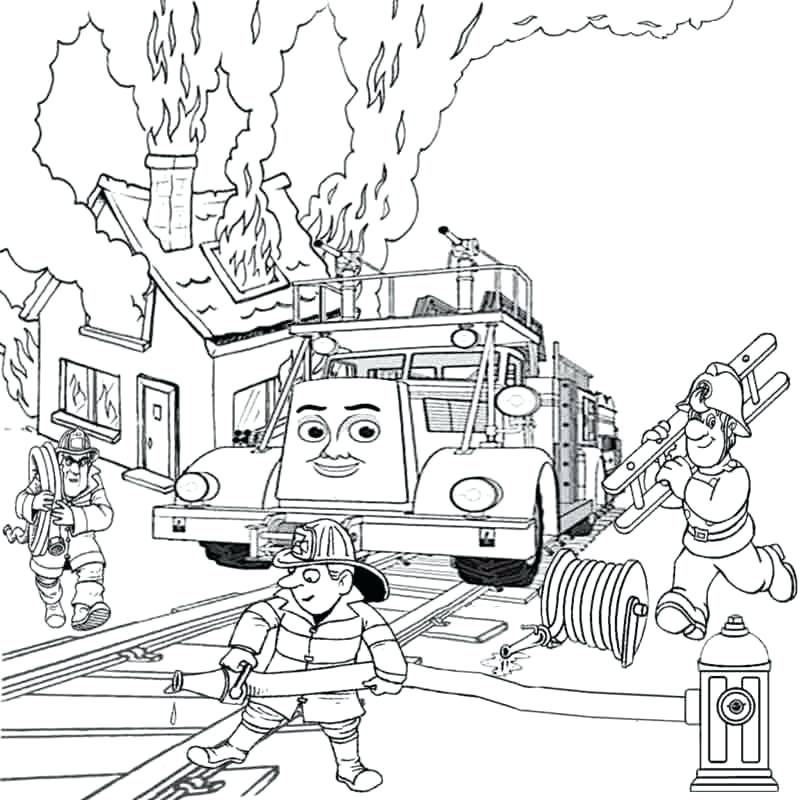 800x800 Free Fire Truck Coloring Pages To Print Simple Fire Truck Coloring