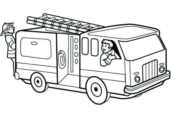 600x408 Fire Truck Coloring Pages Printable Print Engine Large Size