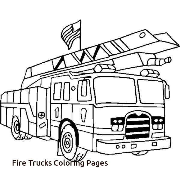 firetruck realistic coloring pages - photo#25