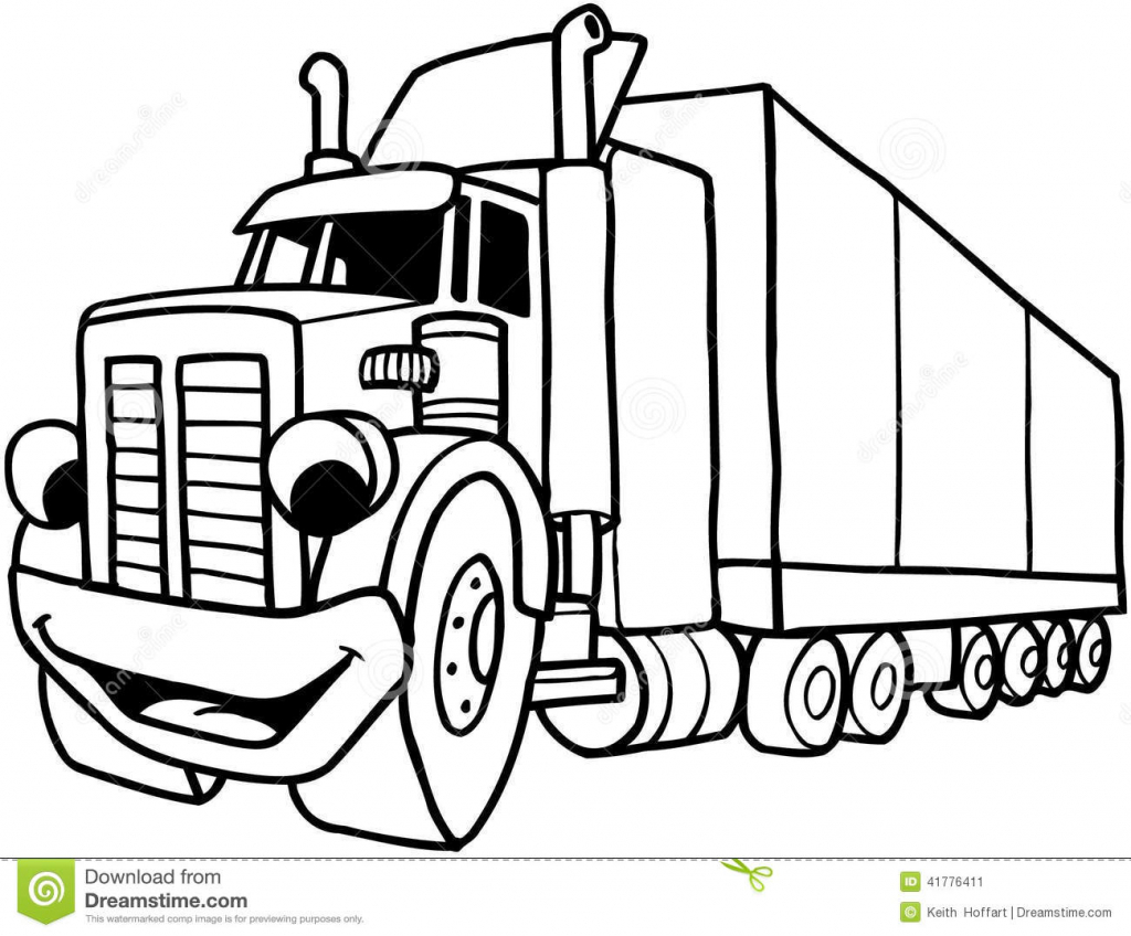 1024x848 Truck Drawings For Kids Collection