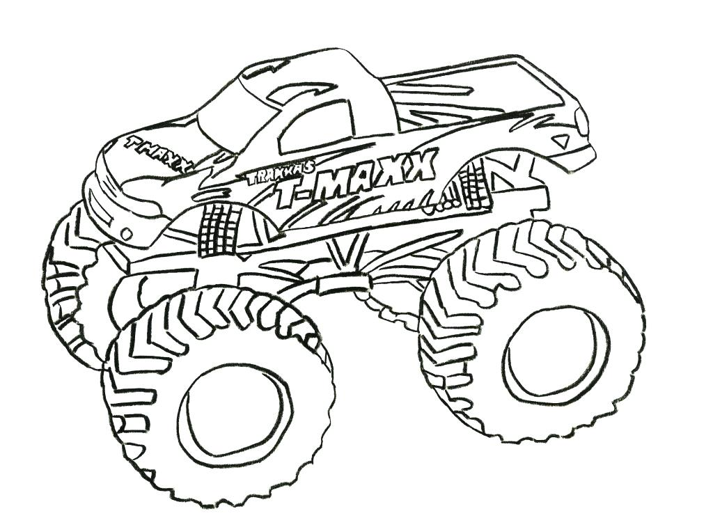 1024x744 Big Monster Truck Coloring Pages Together With Easy Monster Truck