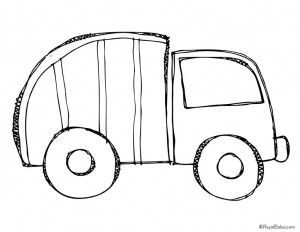 300x232 Garbage Truck Worksheets Coloring Pages (6) Miles 2nd Bday