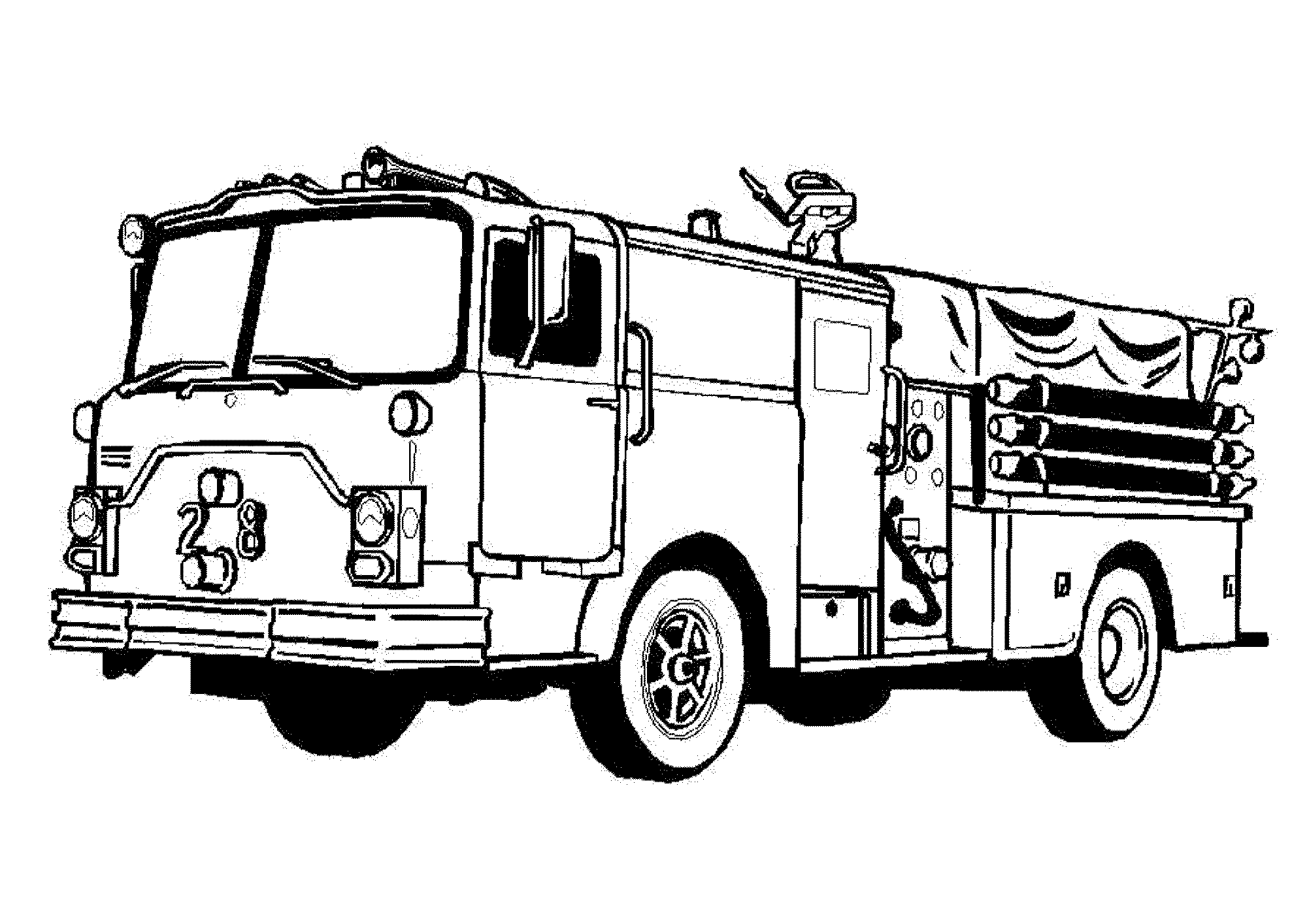 2000x1414 Coloring Pages Cool Fire Truck Coloring Pages Page Fire Truck