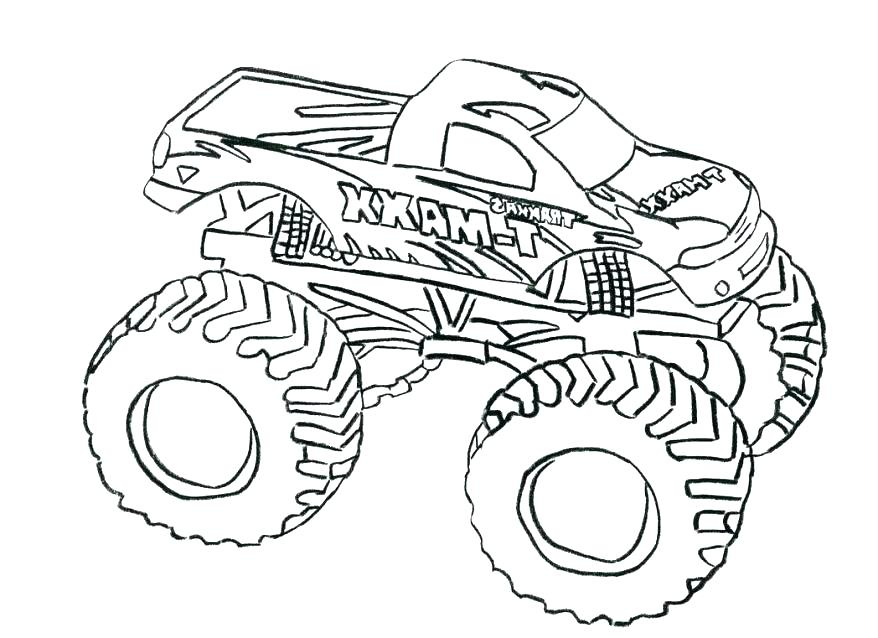 878x638 Easy Monster Truck Coloring Pages Also Monster Truck Coloring