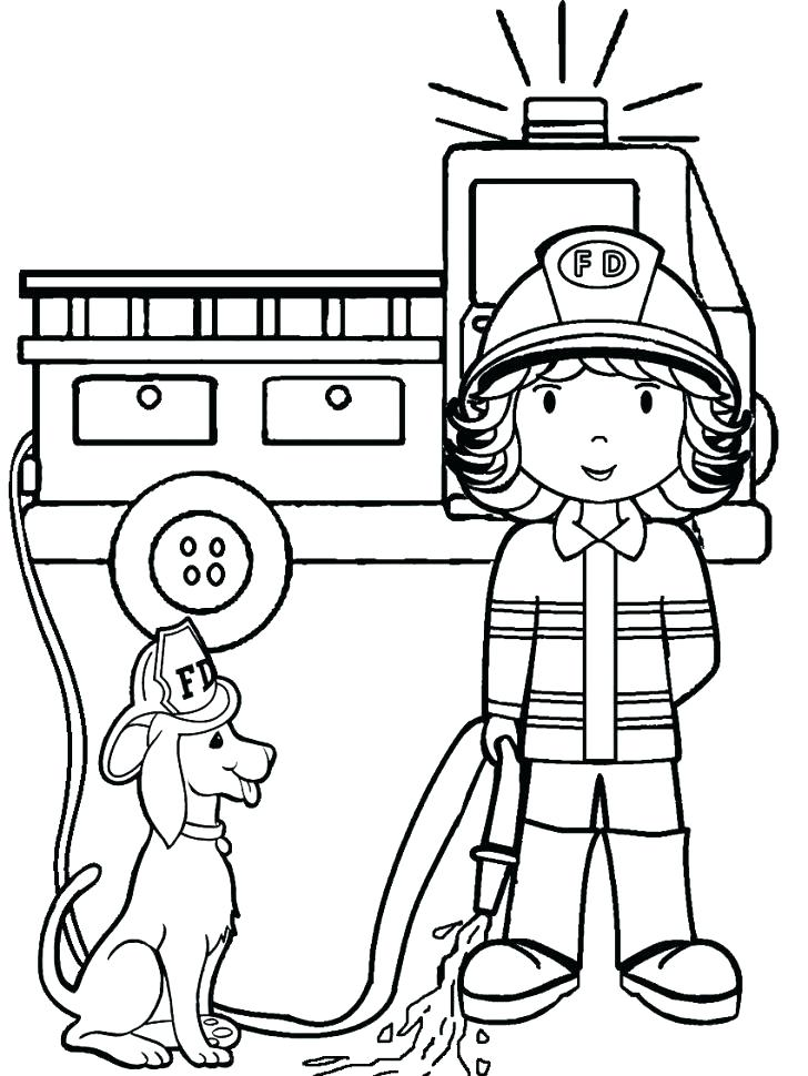 728x970 Fire Fighter Coloring Pages Firefighter Coloring Books