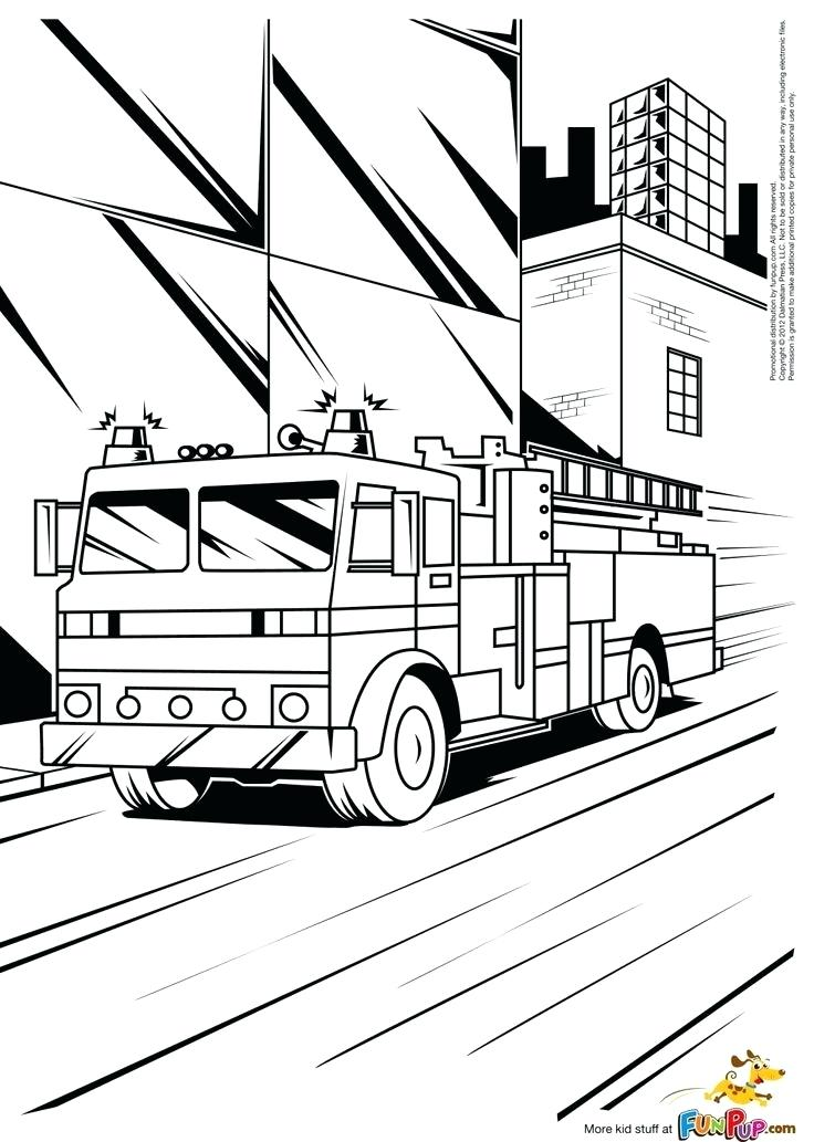 736x1033 Fire Truck Printable Coloring Pages Full Size Of Coloring Coloring